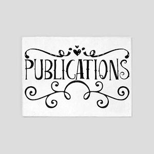 Publications 5'x7'Area Rug