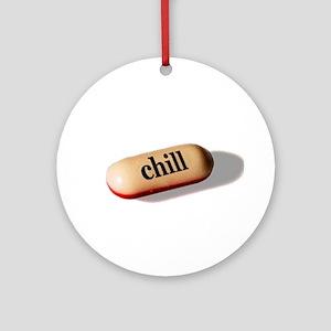 Chill Pill Ornament (Round)