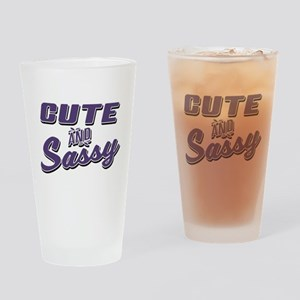 Cute and Sassy Drinking Glass