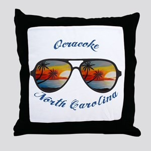 North Carolina - Ocracoke Throw Pillow