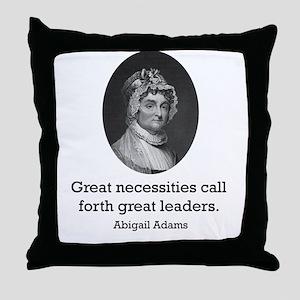 Abigail Adams Throw Pillow