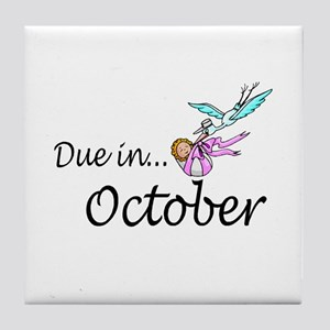 Due In October Tile Coaster
