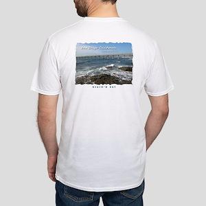 Ocean Beach Pier, San Diego Fitted T-Shirt