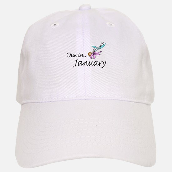Due In January Baseball Baseball Cap