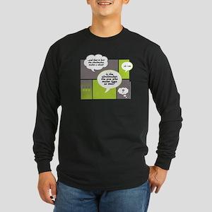 WHO CREATED TIME? Long Sleeve Dark T-Shirt