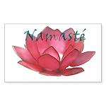Namasté Rectangle Sticker 50 pk)