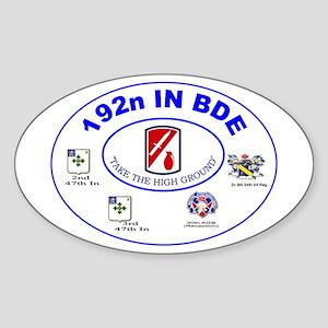 192n Oval Sticker