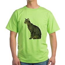 Savannah Cat Green T-Shirt