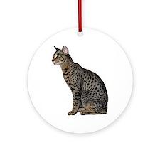 Savannah Cat Ornament (Round)