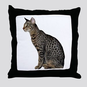 Savannah Cat Throw Pillow