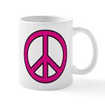 Pink Peace Sign 11 oz Ceramic Mug