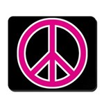Pink Peace Sign Mousepad