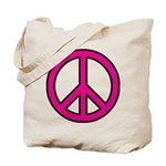 Pink Peace Sign Tote Bag