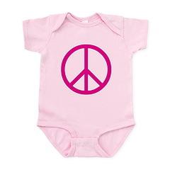pink peace Infant Bodysuit