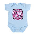 Pink Peace Symbols Infant Bodysuit