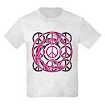 Pink Peace Symbols Kids Light T-Shirt