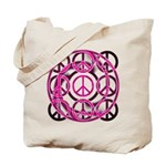 Pink Peace Symbols Tote Bag
