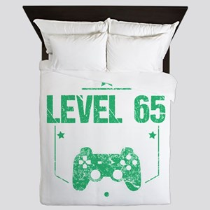 Gamer Shirt Level 65 Complete Gaming B Queen Duvet