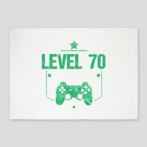 Gamer Shirt Level 70 Complete Gamin 5'x7'Area Rug