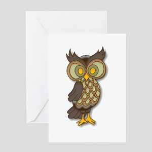 Wide Eyed Owl Greeting Card