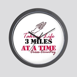 Taking Life 3 miles CC Wall Clock