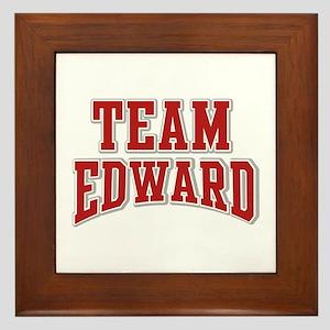 Team Edward Personalized Custom Framed Tile