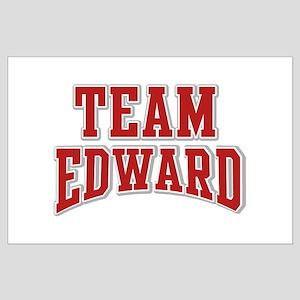 Team Edward Personalized Custom Large Poster