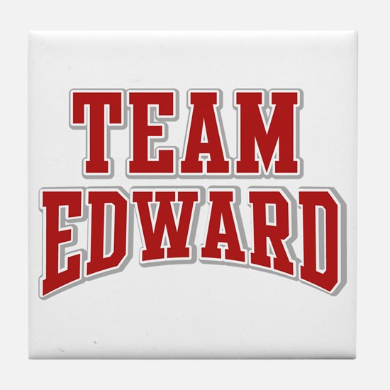 Team Edward Personalized Custom Tile Coaster