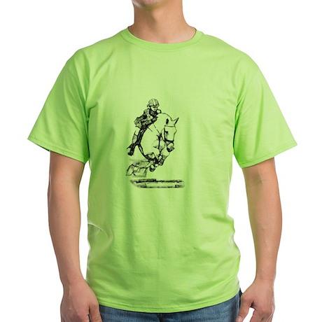 show jumping horse Green T-Shirt