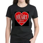 Have A Heart Give Blood Women's Dark T-Shirt