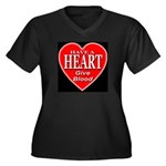 Have A Heart Give Blood Women's Plus Size V-Neck D