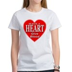 Have A Heart Give Blood Women's T-Shirt