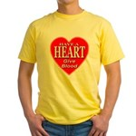 Have A Heart Give Blood Yellow T-Shirt