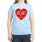 Have A Heart Give Blood Women's Light T-Shirt