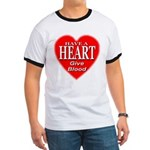 Have A Heart Give Blood Ringer T