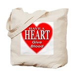 Have A Heart Give Blood Tote Bag