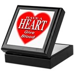 Have A Heart Give Blood Keepsake Box