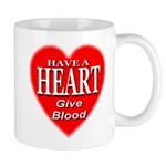 Have A Heart Give Blood Mug