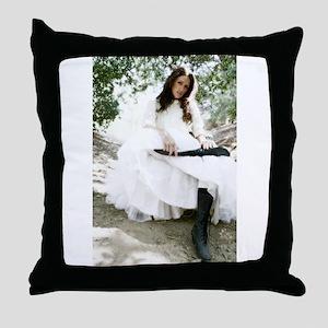 Pioneer Spirit-Model Bobbi Miller-Moro Throw Pillo
