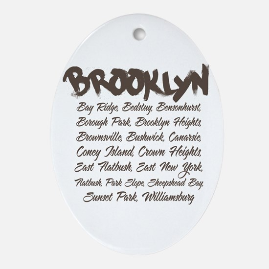Brooklyn Hoods Oval Ornament