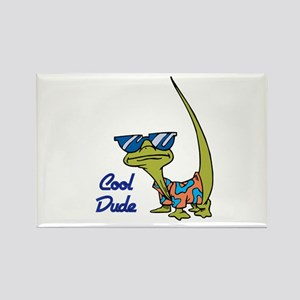 Cool Dude Lizard Rectangle Magnet