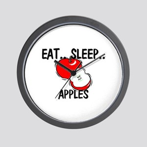Eat ... Sleep ... APPLES Wall Clock