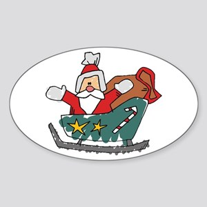 Santa Claus Oval Sticker
