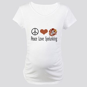 Peace Love Spelunking Maternity T-Shirt