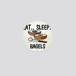 Eat ... Sleep ... BAGELS Mini Button