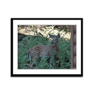 Framed Panel Print Deer 17