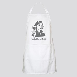 You Had Me At Merlot BBQ Apron