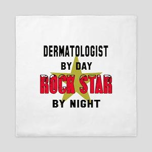 dermatologist By Day, Rock Star By nig Queen Duvet