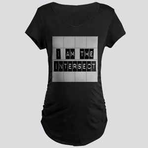I am the Intersect - Chuck Maternity Dark T-Shirt