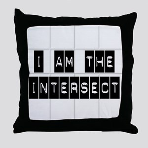 I am the Intersect - Chuck Throw Pillow